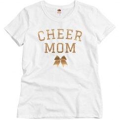 Rose Gold Metallic Cheer Mom