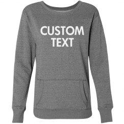 Personalized Glitter Sweatshirt