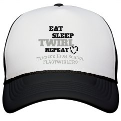 Eat Sleep Twirl Repeat Baseball Hat