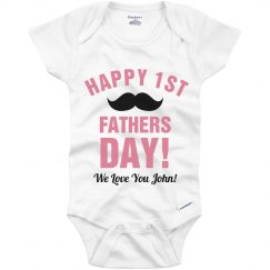 First Father's Day Onesie