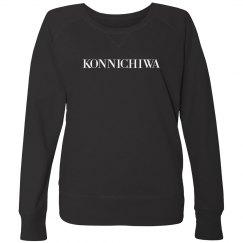 Konnichiwa Black Sweatshirt