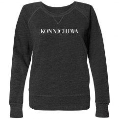 Konnichiwa Grey Sweatshirt