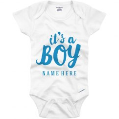 Custom It's A Boy Onesie