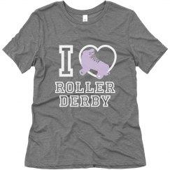 I -Heart- Roller Derby Triblend Tee