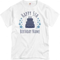 Custom 5th Birthday Shirts More