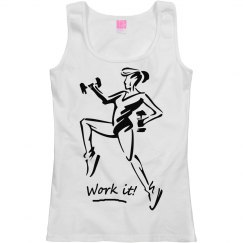 Work it - Ladies Relaxed Fit Scoop Neck Tank Top
