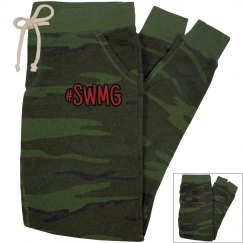 SWMG established camo slim-fit joggers