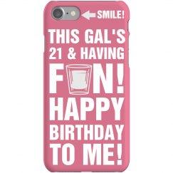 21st Birthday Girl iPhone