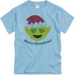 Elf Christmas Emoji  blue