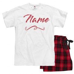 Custom Metallic Red Xmas Pajamas