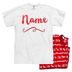 Custom Metallic Red Xmas Pajamas