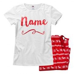 Custom Name Family Xmas Pajamas