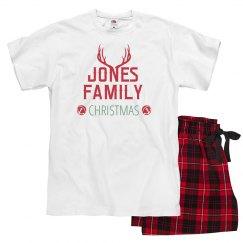 Custom Antler Unisex Christmas PJ's