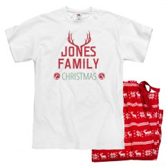 Custom Family Antler Ladies Pj's