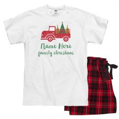 Custom Christmas Truck Pajamas