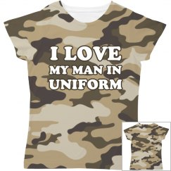 My Man In Uniform All Over Print