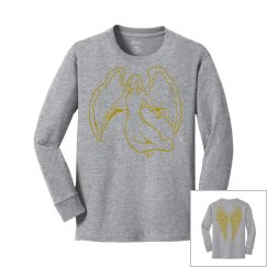 Angel Wings Youth Girls Long Sleeve Shirt