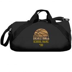Custom Red Metallic Basketball