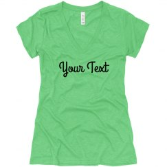 Custom Ladies Triblend T-Shirts