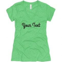 Custom Ladies Triblend T-Shirts