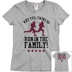 Football Mom to Football Twins Custom Shirt