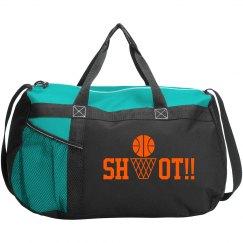 Basketball Sport Roll Bag black