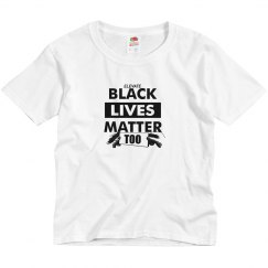Youth Tee Black Lives Matter-White