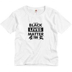 Youth Tee Black Lives Matter-White