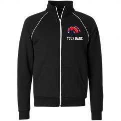 Mustangs Unisex American Apparel Fleece Track Jacket
