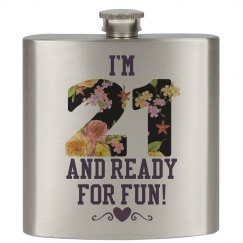 21 Ready For Fun Flask