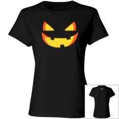 Ladies Evil Pumpkin Face