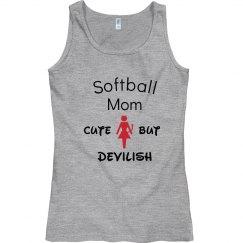 Softball mom cute but devilish