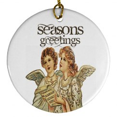 Seasons Greetings Angel Ornament