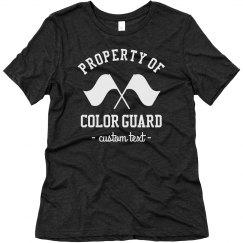 Property of Color Guard Custom Tees