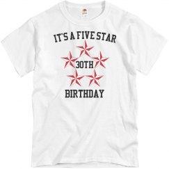 Five star birthday