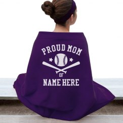 Proud Baseball Mom Blanket