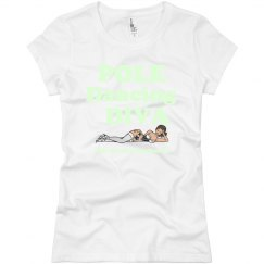 Pole Dance Diva glow in the dark