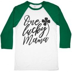 One Lucky Mama St. Patrick's Raglan