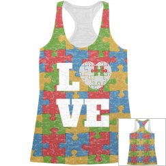 Autism Love All Over Print Tank