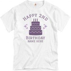 Custom Happy 2nd Birthday