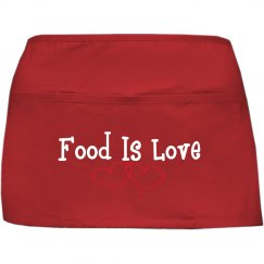 Food Is Love Apron