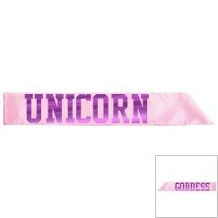 Unicorn Goddess Sash - Pink/Fuschia Metallic