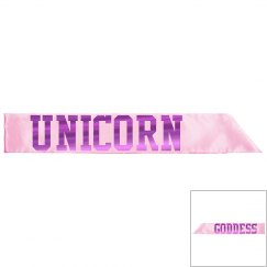 Unicorn Goddess Sash - Pink/Fuschia Metallic