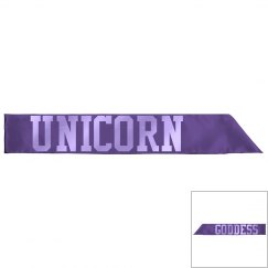 Unicorn Goddess Sash - Deep Purple/Electric Grape