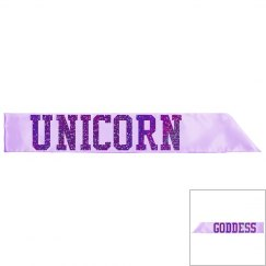 Unicorn Goddess Sash - Lilac/Purple Glitter