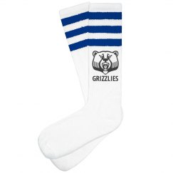 """Grizzlies"" Custom Unisex Striped Knee-High Socks"