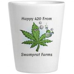 Swamprat farms 420 Shot Glass
