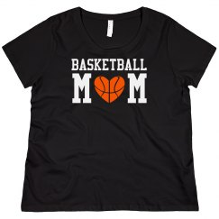 Curvy Basketball Mom Tee