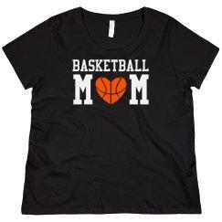 Curvy Basketball Mom Tee