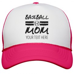 Trendy Baseball Mom Trucker Hat